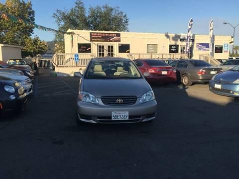 2003 Toyota Corolla for sale at TOP QUALITY AUTO in Rancho Cordova CA