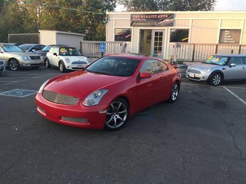 2004 Infiniti G35 for sale at TOP QUALITY AUTO in Rancho Cordova CA