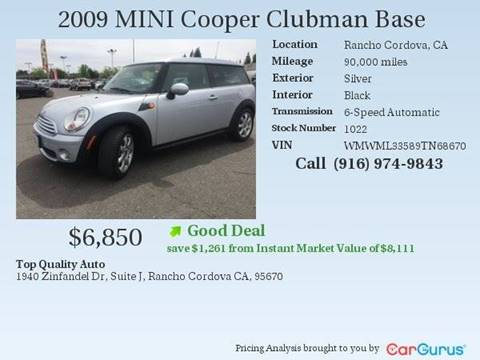 2009 MINI Cooper Clubman for sale at TOP QUALITY AUTO in Rancho Cordova CA