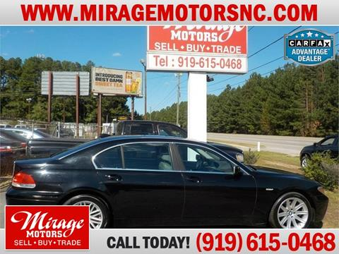 2004 BMW 7 Series for sale in Raleigh, NC