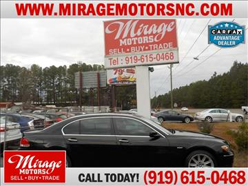 2006 BMW 7 Series for sale in Raleigh, NC