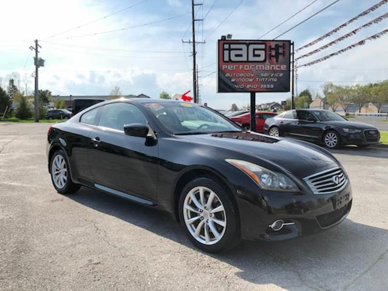 2011 Infiniti G37 Coupe X In Westminster Md Integrity Auto Group
