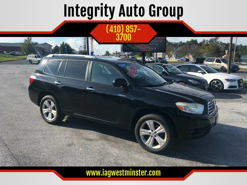 2009 Toyota Highlander For Sale At Integrity Auto Group In Westminster MD