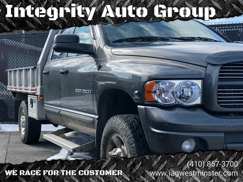 2004 Dodge Ram Pickup 2500 for sale in Westminister, MD