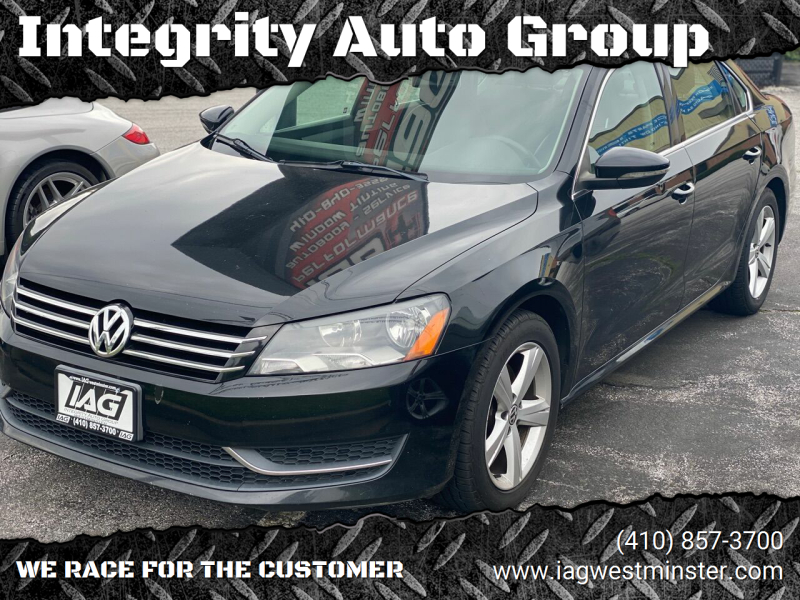2012 Volkswagen Passat for sale at Integrity Auto Group in Westminister MD