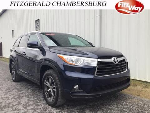 2016 Toyota Highlander for sale in Chambersburg, PA