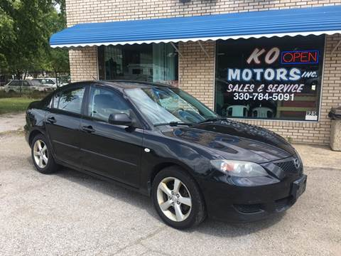 2006 Mazda MAZDA3 for sale at K O Motors in Akron OH