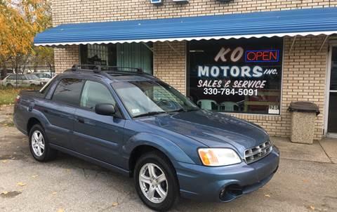 2006 Subaru Baja for sale at K O Motors in Akron OH