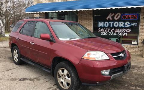 2003 Acura MDX for sale at K O Motors in Akron OH