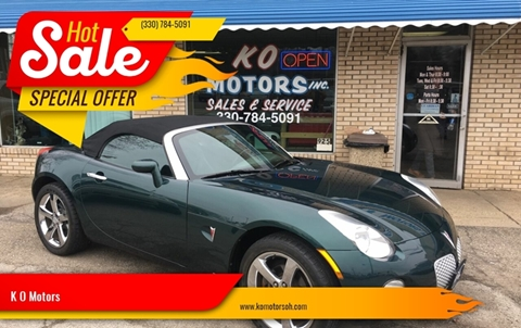 2006 Pontiac Solstice for sale at K O Motors in Akron OH