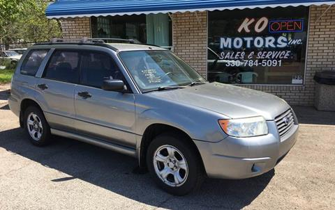 2007 Subaru Forester for sale at K O Motors in Akron OH