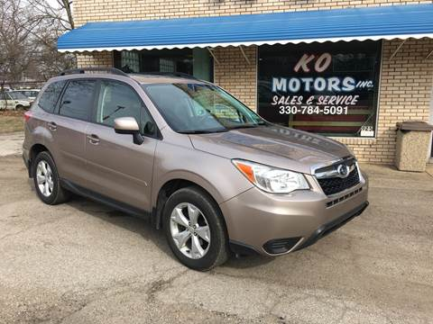 2015 Subaru Forester 2.5i Premium for sale at K O Motors in Akron OH