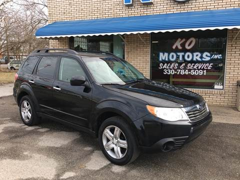 2010 Subaru Forester 2.5X Premium for sale at K O Motors in Akron OH