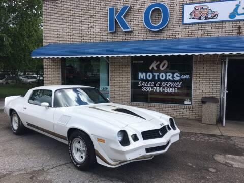 1979 Chevrolet Camaro for sale at K O Motors in Akron OH