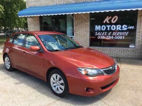 2009 Subaru Impreza for sale at K O Motors in Akron OH