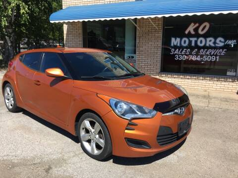 2013 Hyundai Veloster for sale at K O Motors in Akron OH