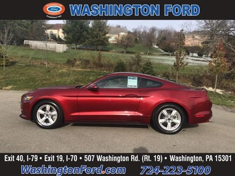 Washington Ford Pa >> 2017 Ford Mustang For Sale In Washington Pa