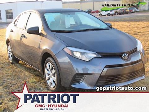 2016 Toyota Corolla for sale in Bartlesville, OK