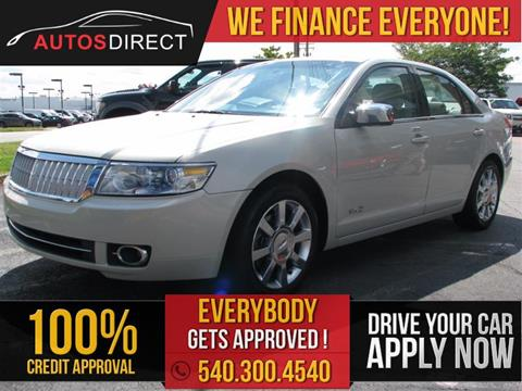 2008 Lincoln MKZ for sale in Fredericksburg, VA