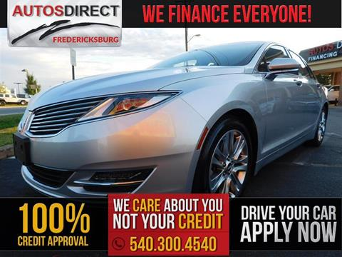 2013 Lincoln MKZ for sale in Fredericksburg, VA