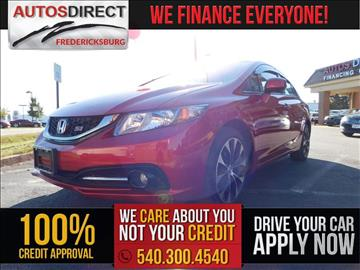 2013 Honda Civic for sale in Fredericksburg, VA