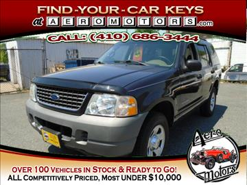 2002 Ford Explorer for sale at Aero Motors INC in Essex MD