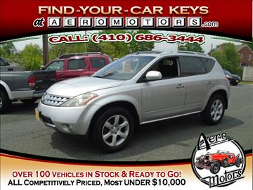 2006 Nissan Murano for sale at Aero Motors INC in Essex MD