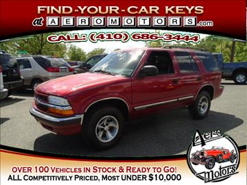 2000 Chevrolet Blazer for sale at Aero Motors INC in Essex MD