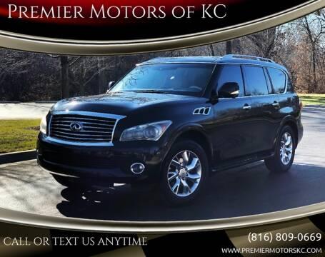 2012 Infiniti QX56 for sale at Premier Motors of KC in Kansas City MO