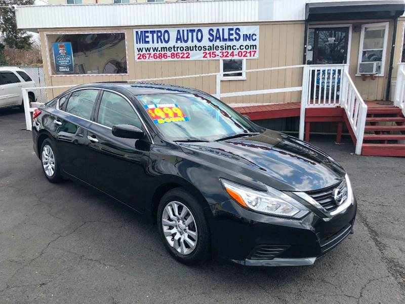 2016 nissan altima 2 5 sv 4dr sedan in philadelphia pa metro auto sales inc. Black Bedroom Furniture Sets. Home Design Ideas