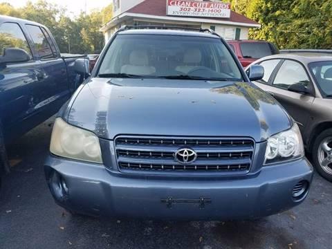 2003 Toyota Highlander for sale in New Castle, DE