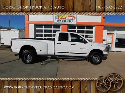 2004 Dodge Ram Pickup 3500 for sale at Porks Chop Truck and Auto in Cheyenne WY