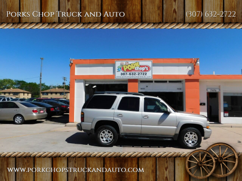2004 Chevrolet Tahoe for sale at Porks Chop Truck and Auto in Cheyenne WY
