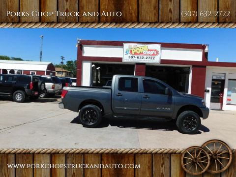 2010 Nissan Titan for sale at Porks Chop Truck and Auto in Cheyenne WY