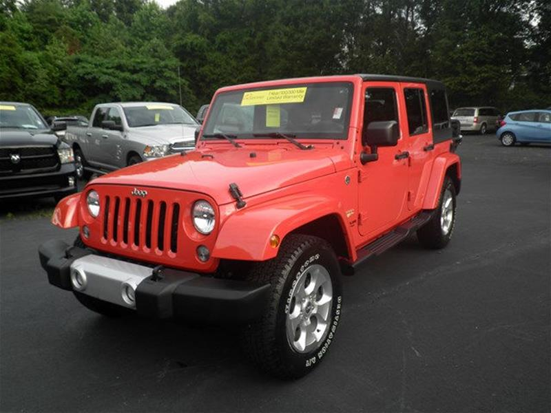 Jeep Credit Union >> 2015 Jeep Wrangler Unlimited 4x4 Sahara 4dr Suv In Winston Salem Nc