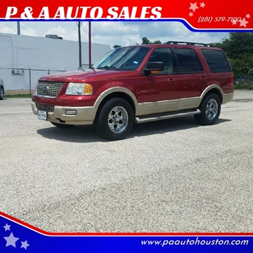 2006 Ford Expedition for sale at P & A AUTO SALES in Houston TX
