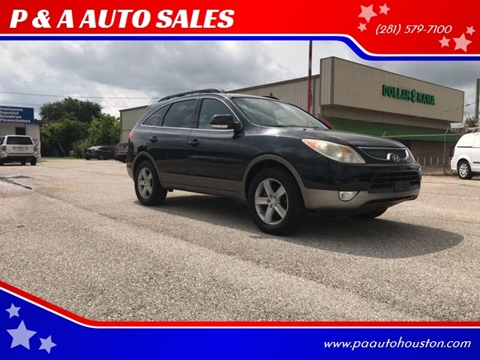 2007 Hyundai Veracruz for sale at P & A AUTO SALES in Houston TX