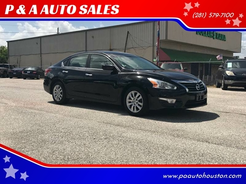 2013 Nissan Altima for sale at P & A AUTO SALES in Houston TX