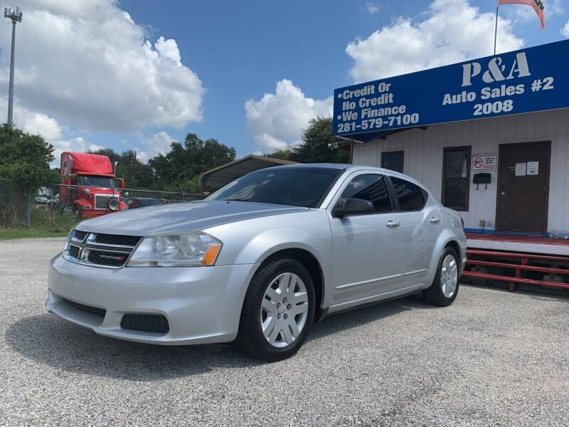 2012 Dodge Avenger for sale at P & A AUTO SALES in Houston TX