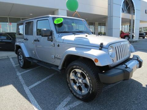 2016 Jeep Wrangler Unlimited for sale in Shelby, NC