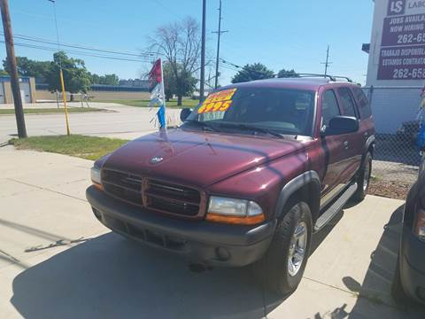 2003 Dodge Durango for sale at Kenosha Auto Outlet LLC in Kenosha WI
