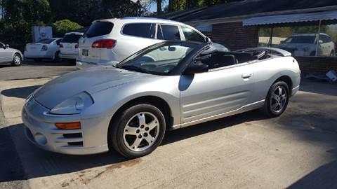 2003 Mitsubishi Eclipse Spyder for sale in Plainville, GA