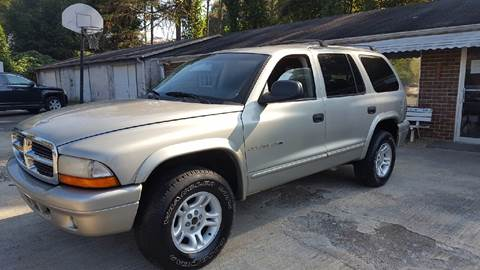 2001 Dodge Durango for sale in Plainville, GA