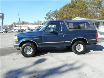 1992 Ford Bronco for sale at Elite Motors in Knoxville TN