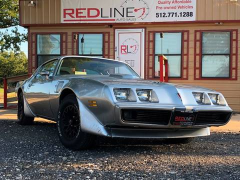 1981 Pontiac Firebird for sale at REDLINE AUTO SALES LLC in Cedar Creek TX