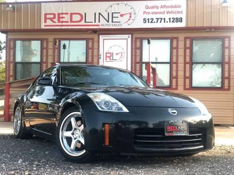 2006 Nissan 350Z for sale at REDLINE AUTO SALES LLC in Cedar Creek TX