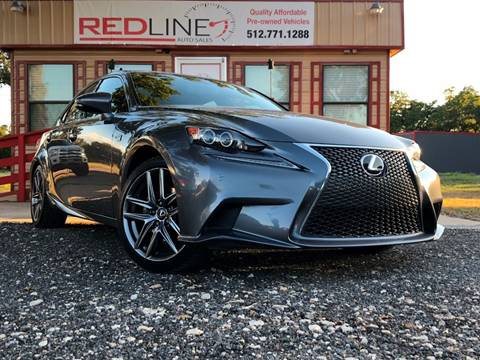2015 Lexus IS 250 for sale at REDLINE AUTO SALES LLC in Cedar Creek TX