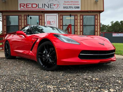 2015 Chevrolet Corvette for sale at REDLINE AUTO SALES LLC in Cedar Creek TX