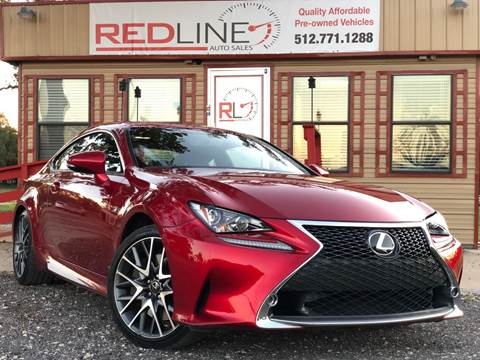 2015 Lexus RC 350 for sale at REDLINE AUTO SALES LLC in Cedar Creek TX