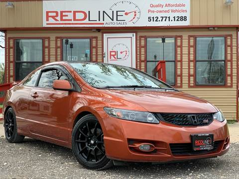 2009 Honda Civic for sale at REDLINE AUTO SALES LLC in Cedar Creek TX